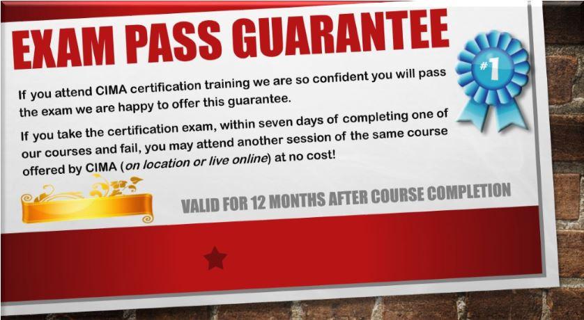 CIMA's exam pass promotion